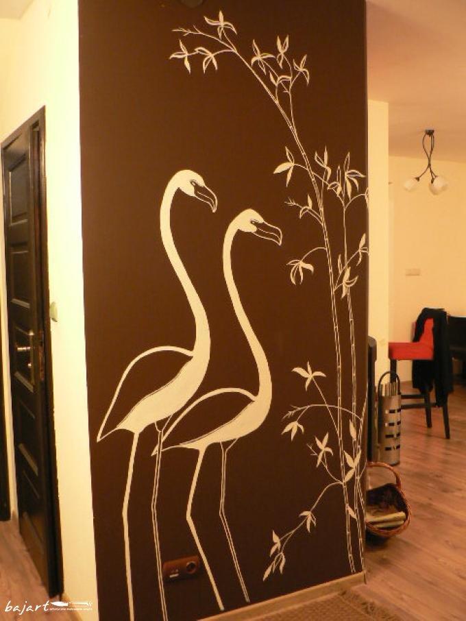 Flamingi w pokoju