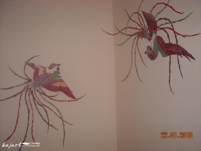 Rajkie ptaki- oryginalna dekoracja ściany