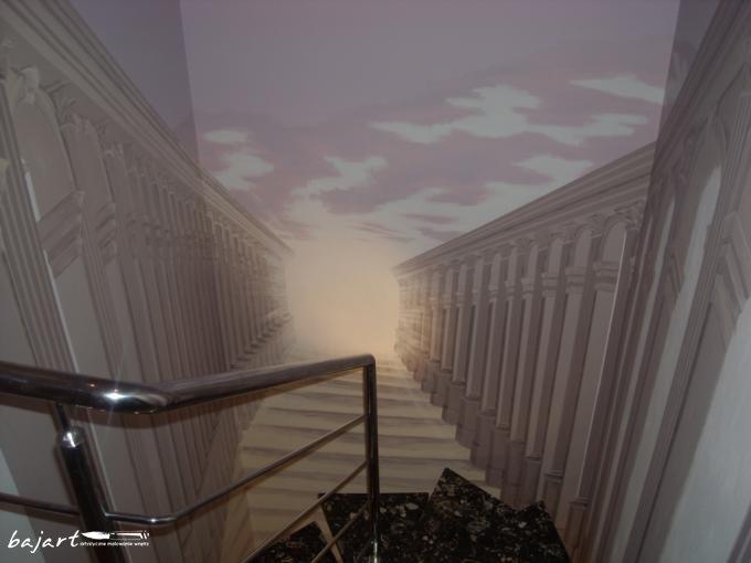 Malunek wokół schodów