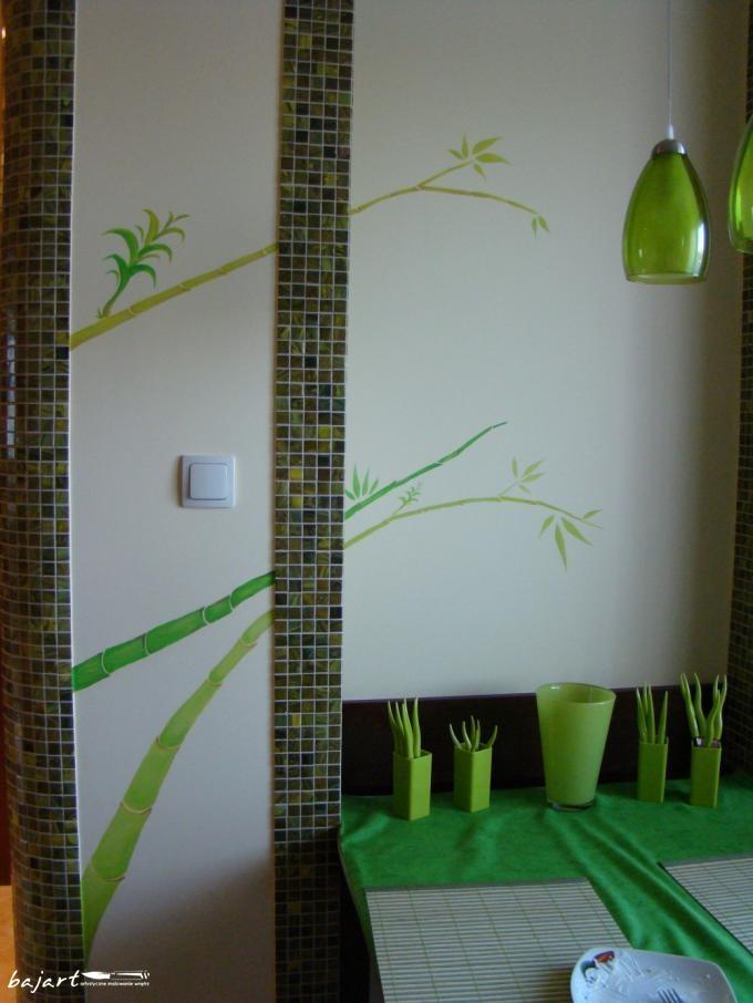 Zielona dekoracja łazienki