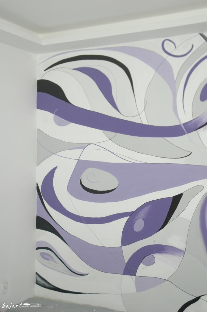 Dekoracja pokoju w fiolecie