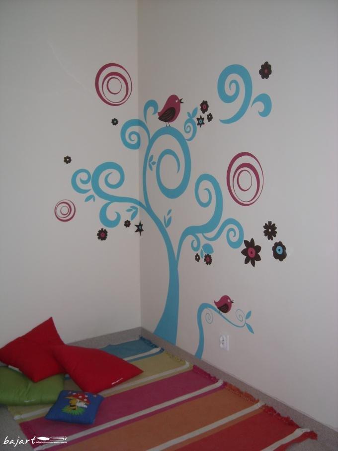 Kolorowy malunek na ścianie