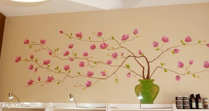 Magnolia - dekoracja ściany