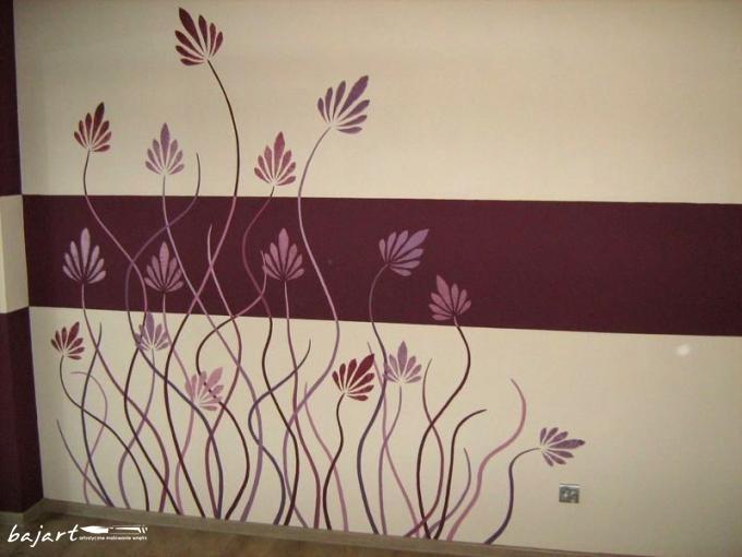 dekoracja ściany -kwiaty