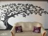 Rysunek na ścianie - drzewo