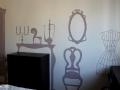 artystyczne malowanie ściany w sypialni