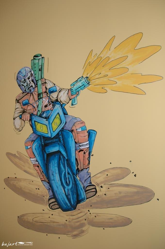 Wojownik na motorze