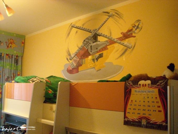 Helikopter nad łóżkiem