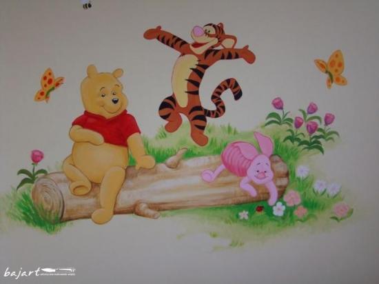 Kubuś i przyjaciele na ścianie