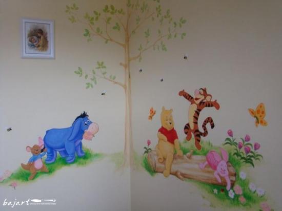 Wesoły malunek w pokoju dziecka