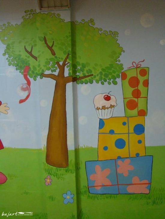artystyczne malowanie sali urodzinnowej