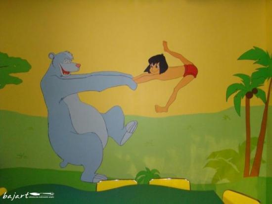 Dekoracja ściany w pokoju -Księga dżungli