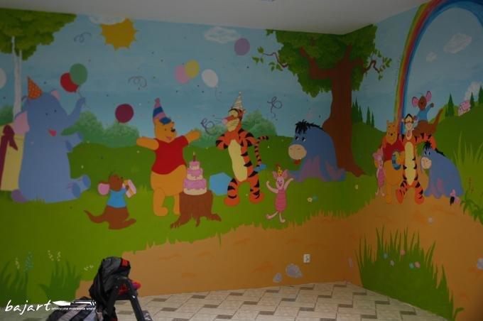 Malowana ściana w przedszkolu