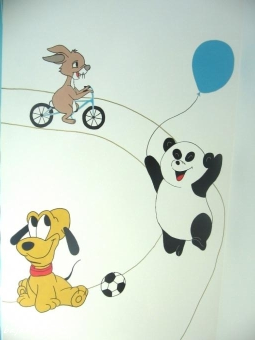 malowane zwierzątka w pokoju dziecka