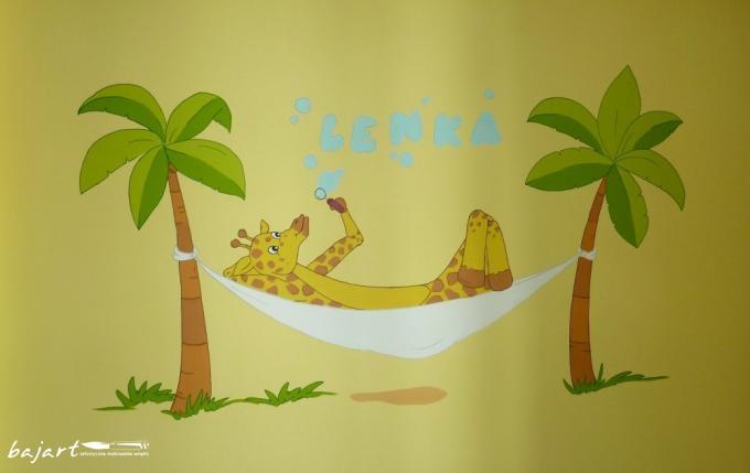 Żyrafa na hamaku