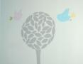 Abstrakcyjne drzewo z ptakami