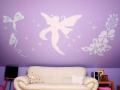 dekoracje jednokolorowe na ścianie