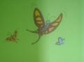 Motyle nad szafką na buty