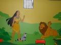 Artystyczne malowanie ścian- Pocahontas i Król Lew