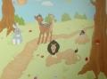 Zwierzątka malowane w pokoju dziewczynki