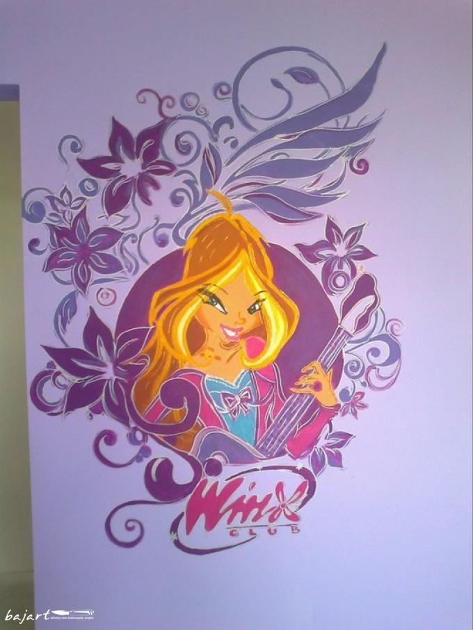 winx na ścianie