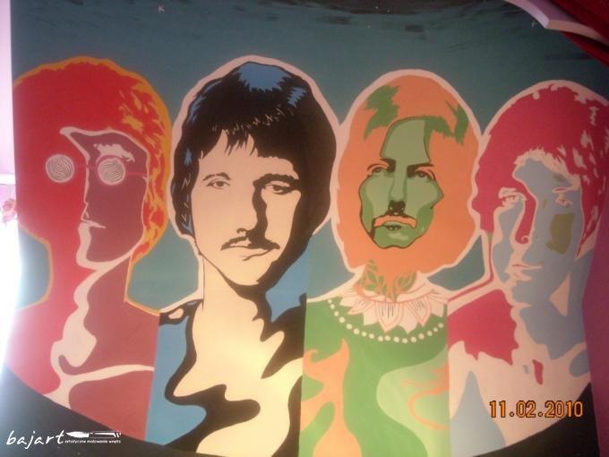 Artstyczne malowanie ścian pubu