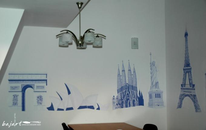 Artystyczne malowanie wnętrza biurowego