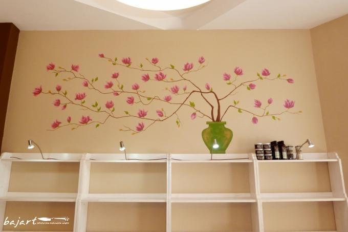 Magnolie- artystyczne malowanie wnętrz