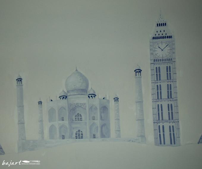 Budowle malowane na ścianie