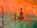 Artystyczne malowanie ścian - pokój do masażu