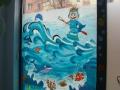 malunek na szybie- witryna gabinetu stomatologicznego
