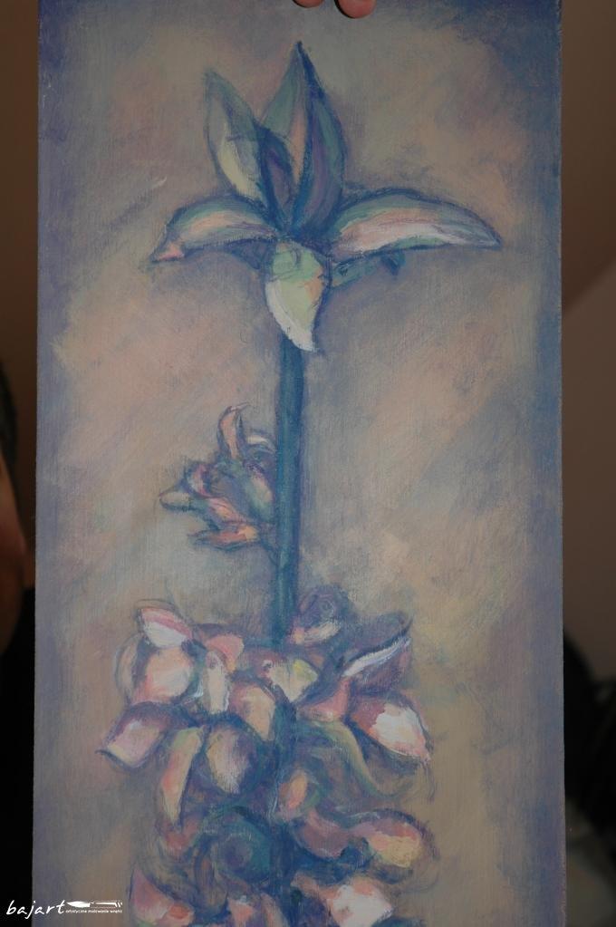 Kwiat w ciemnej tonacji