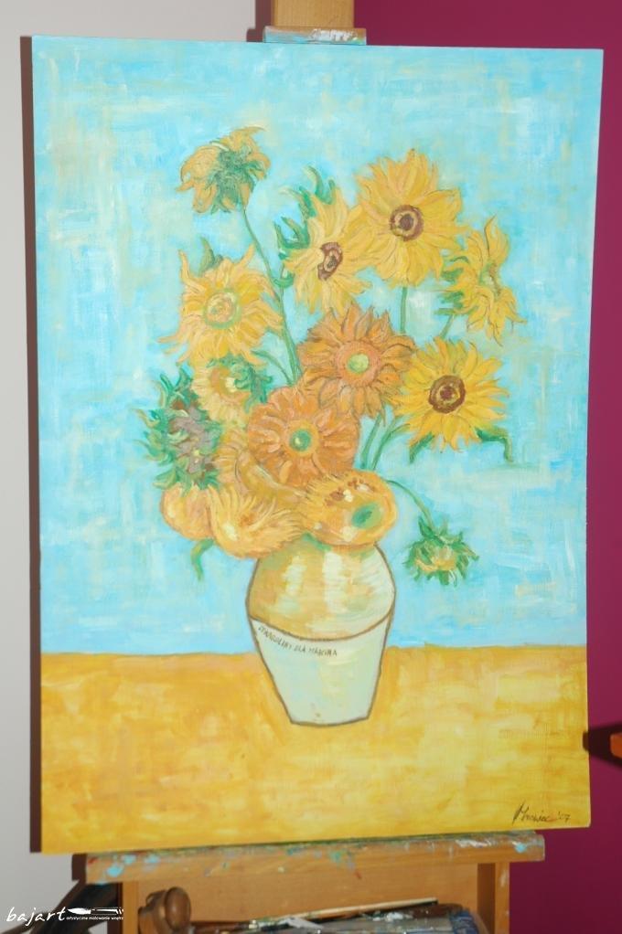 Reprodukcja słoneczników van Gogha