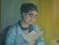 Portret czytającej kobiety