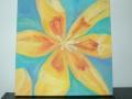 Kwiat w optymistycznych kolorach